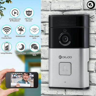 Digoo Kit Videocitofono 720P Hd P2P Wifi Wireless Telecamera Ir Connetti Con App
