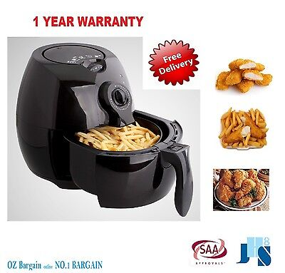 New Air Fryer 1500W 5 Star Cooker Rapid Deep Fry Free Healthy Low Fat Chef Oven