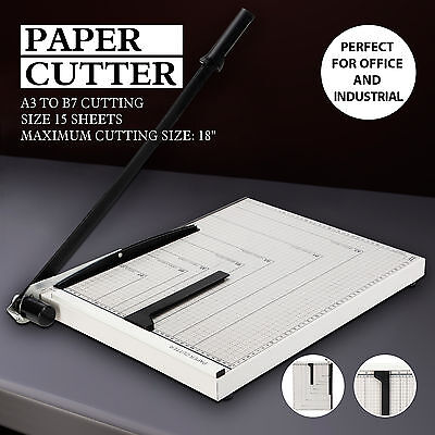 """A3 to B7 18""""x15"""" Paper Cutter Guillotine Blade Metal Base Trimmer Scrap Booking"""