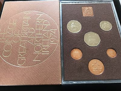 1974 Royal Mint Coinage Of Great Britain & Northern Ireland Proof 6 Coin Set 003