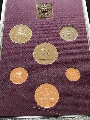 1980 Royal Mint Coinage Of Great Britain & Northern Ireland Proof 6 Coin Set