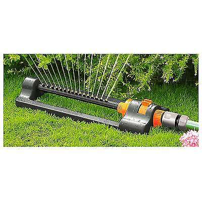 Compact Oscillating lawn Sprinkler watering, garden hose pipe 16 Nozzles