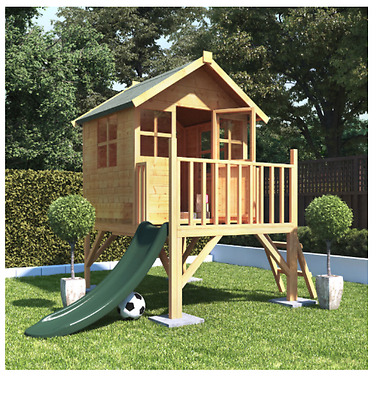 NEW Wooden Bunny Tower Playhouse with Slide Option Kids Outdoor Wendy Play House