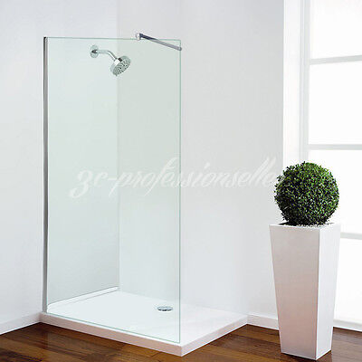 700/800/900/1000mm Walk In Wet Room Shower Enclosure Cubicle Screen Panel + Tray