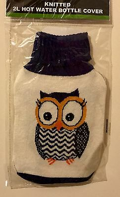 2L Hot Water Bottle Soft Knitted Cover Only Winter Warmer Heated Cover