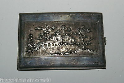 Russian .875 Sterling Silver 127.7 Gram Cigarette Case~FREE US SHIPPING~