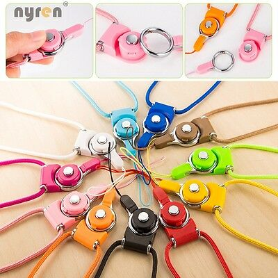 12 Multi Color Multifunction Mobile Straps lanyard Key Chain ID Card Necklace