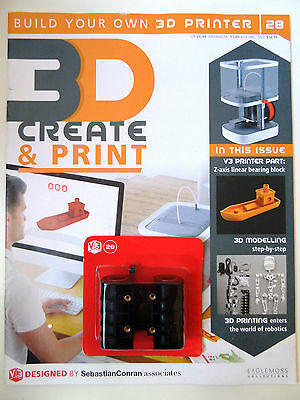 Build Your Own 3D Printer Magazine V3 Issue #28 Z-Axis Linear Bearing Block Part