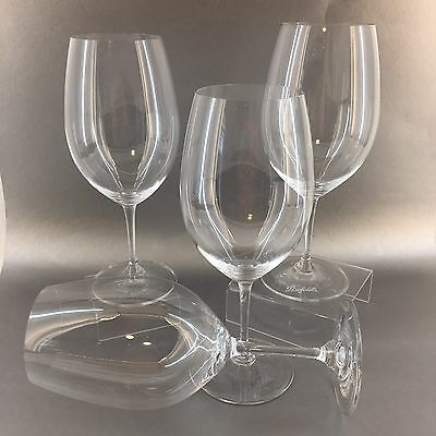 "Penfold's Winery Set Of 4 Reidel 10"" Crystal Red Wine Glasses Penfold Mint"