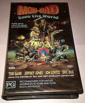 VHS MOM AND DAD SAVE THE WORLD 1990s ROADSHOW HOME VIDEO