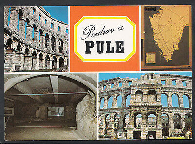 Croatia Postcard - Views of The Pula Roman Amphitheatre B2651