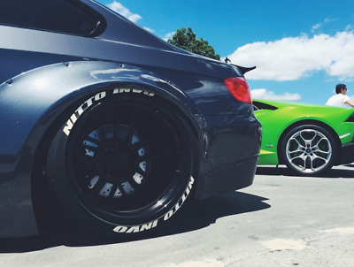Double NITTO INVO Race Font Series TredWear Tyre Lettering Kit