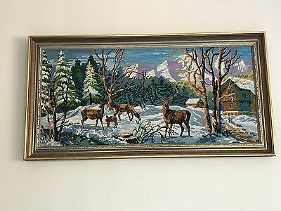 Large Framed Tapestry - Hand Made