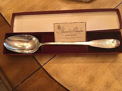 Vintage Gorham General de Rochambeau Silver Plate Serving Spoon