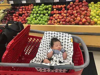 Binxy Baby Shopping Cart Hammock Baby Seat Sleep Fun Triangles New
