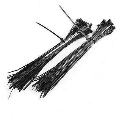 Elecall 4x250mm Black Self-Locking Nylon Cable Ties 250Pcs/Pack Cable Zip Tie