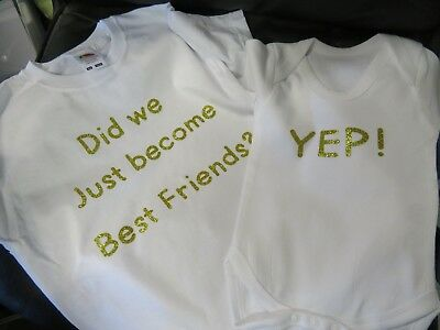 SET OF 2 items - Did we just become best Friends ideal Gift T-shirts, Vest,Bibs