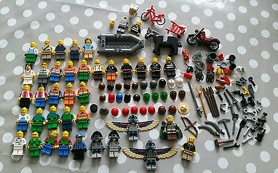 Lego Figures, Weapons and Tools plus Vehicles Job Lot
