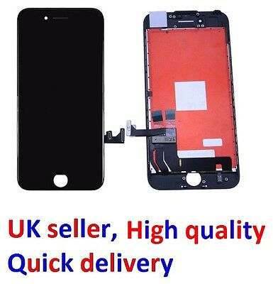 Black iPhone 7 LCD Screen Replacement, 4.7 Inches, New, 3D Touch