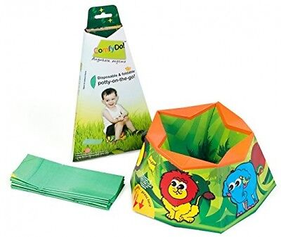 ComfyDo Jungle Fun Disposable and Foldable On The Go Travel Potty Baby Essential
