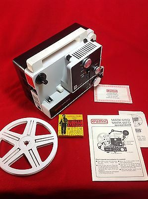 EUMIG Mark 610D Dual 8mm Silent Projector + Buster Keaton Film : Ex Condition