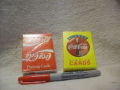 2 Decks of Coca Cola Playing Cards NEW Sealed ~ Coke Advertising