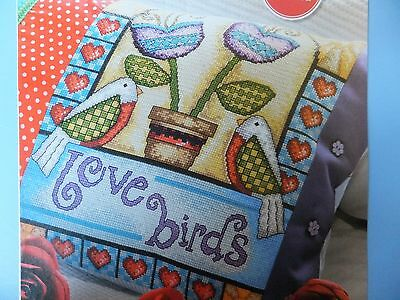 Adorable Love Birds Design Pattern / Chart in/for Counted Cross Stitch