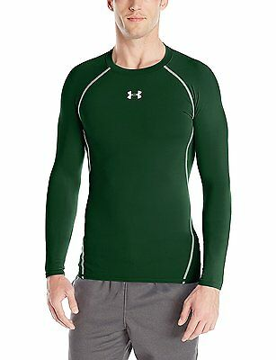 Under Armour HeatGear Long Sleeve Compression Shirt, Forest Green - Small