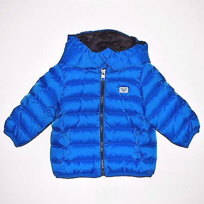 Beautiful Baby Boys Designer Puffa Jacket by Armani Baby - 6, 9 and 12 months
