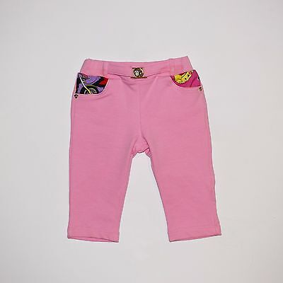 Cute Pink Baby Girls Designer Trousers by Versace - 6 months