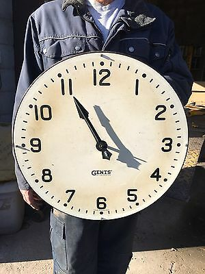 Old Vintage Antique Gents Industrial Factory Train Station Clock Must See