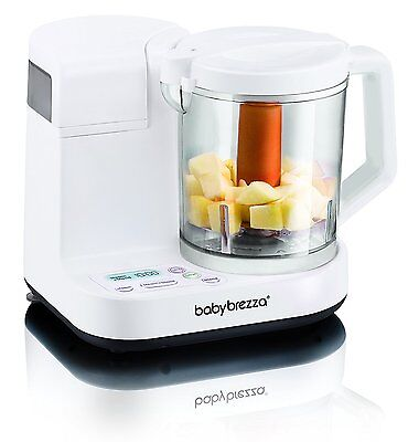 Baby Brezza Food Maker Glass Large 4 Cup Capacity, White