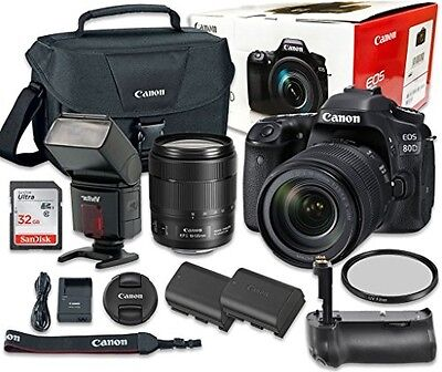 Canon EOS 80D Digital SLR Camera Bundle with EF-S 18-135mm f/3.5-5.6 IS USM Lens