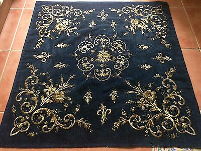 ANTIQUE OTTOMAN TURKISH GOLD METALLIC HAND EMBROIDERY BOHCA No:7