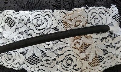 "1 Yard 1/4""W Clear Bone Bra Corset Making Black polyester Covered Boning"