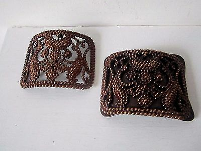 Pair of antique French cut steel shoe buckles
