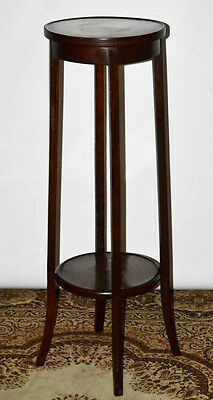 Antique Edwardian Mahogany Inlaid Torchere Plant Stand - FREE Shipping [PL3487]