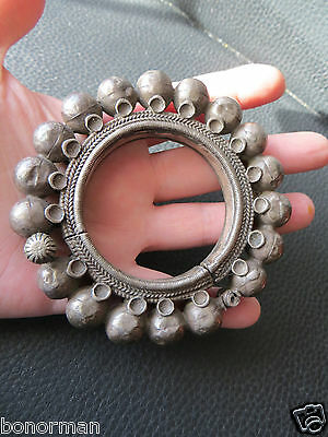 Very Old ,Vintage antique Tribal 800-900 silver bangle bracelet india? Morocco?