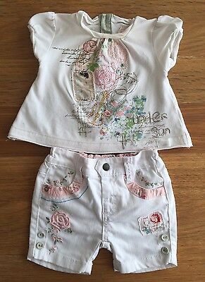 Girls Shorts And Top Outfit Set Newborn Mamas And Papas