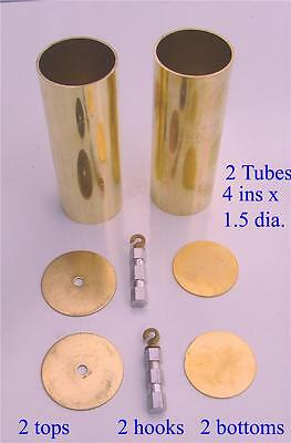 Pair of improved replacement Vienna Wall Clock weights (unfilled)