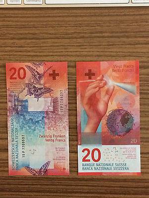 Switzerland New 20 Francs Banknote 2017 Just Relased On May, 17, 2017