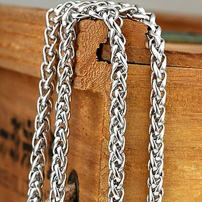 """New Men's/Women's Silver Necklace Stainless Steel Chain 24""""Link Fashion Jewelry"""