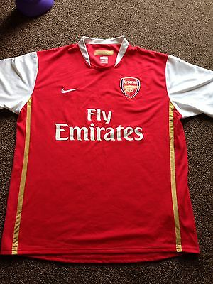 Nike Official Arsenal 2006-08 Arsenal Football Shirt Size Large