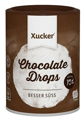 Xucker Dark Chocolate Drops with Xylitol, No Sugar Added, Low Carb