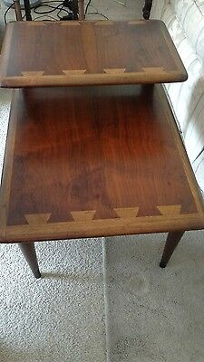 Mid-Century modern Lane two-tier wood end table