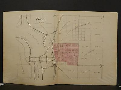 Wisconsin Chippewa County Map Cornell 1913  Double Page Y11#13