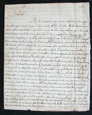 Handwritten Letter About a Murder Committed in Dunse Manse, England in 1793