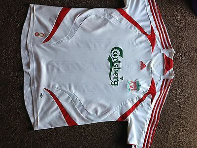 Adidas Official Liverpool 2007-08 Away Football Shirt Xl