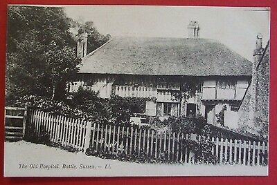 LL No. ? Postcard c.1910 THE OLD HOSPITAL BATTLE SUSSEX