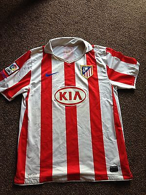 Nike Official Atletico Madrid 2010-11 Home Football Shirt Size Large
